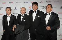 NEW YORK, NY - NOVEMBER 19: Adrian Schwartz Kirzner and Mario Segade at the 40th International Emmy Awards in New York. November 19, 2012. © Diego Corredor/MediaPunch Inc. /NortePhoto