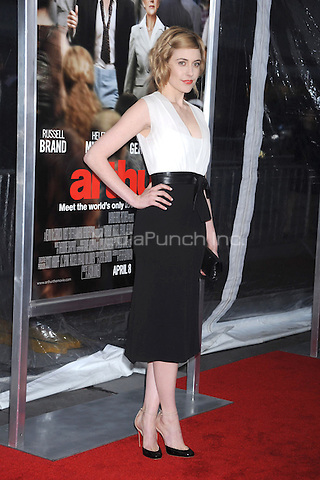 NEW YORK, NY-APRIL 5: Greta Gerwig at the New York Premiere of ARTHUR  held at the Ziegfeld Theater in New York City. April 5, 2011.  © mpi01 / MediaPunch Inc.