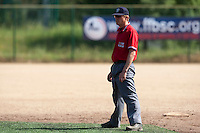 24 May 2009: Umpire Thomas Haywood is seen during the 2009 challenge de France, a tournament with the best French baseball teams - all eight elite league clubs - to determine a spot in the European Cup next year, at Montpellier, France. Rouen wins 7-5 over Savigny.