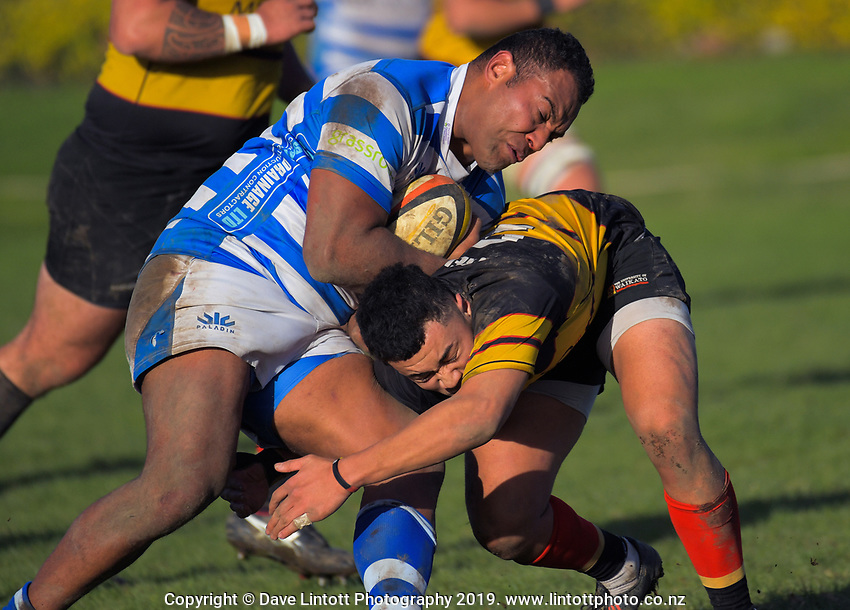 Action from the Waikato premier club rugby match between Fraser Tech and University Of Waikato at Fraser Tech Park in Hamilton, New Zealand on Saturday, 8 June 2019. Photo: Dave Lintott / lintottphoto.co.nz