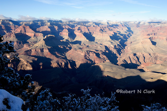 Grand Canyon and Monument Valley in the winter with snow