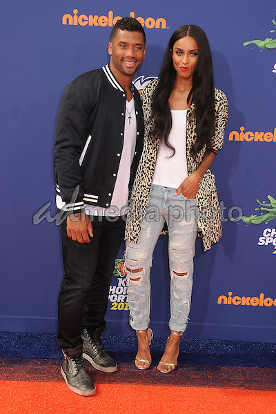 16 July 2015 - Westwood, California - Russell Wilson, Ciara. Nickelodeon Kids Choice Sports Awards 2015 held at the UCLA Pauley Pavilion. Photo Credit: Byron Purvis/AdMedia