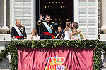 "New Kings of Spain Felipe VI and Letizia At The ""Royal Palace"" with the Royal Family after being crowned king of Spain. Jun 19, 2014. (ALTERPHOTOS/Carlos Dafonte)"