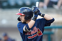Cody Milligan (7) of the Danville Braves at bat against the Pulaski Yankees at Calfee Park on June 30, 2019 in Pulaski, Virginia. The Braves defeated the Yankees 8-5 in 10 innings.  (Brian Westerholt/Four Seam Images)