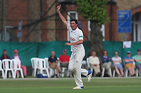 Mark Footitt of Surrey celebrates taking the wicket of Simon Harmer during Surrey CCC vs Essex CCC, Specsavers County Championship Division 1 Cricket at Guildford CC, The Sports Ground on 10th June 2017