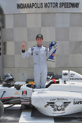 2017 F4 US Championship<br /> Rounds 4-5-6<br /> Indianapolis Motor Speedway, Speedway, IN, USA<br /> Sunday 11 June 2017<br /> Race #2 winner, Kyle Kirkwood.<br /> World Copyright: Dan R. Boyd<br /> LAT Images