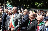"""Commemoration of the """"Festa della Liberazione"""" in Italy.In picture Luigi De Magistris,mayor of Napoli"""