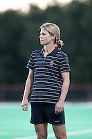 STANFORD CA - September 23, 2011: Head Coach Tara Danielson during the Stanford vs Cal at vs Lehigh field hockey game at the Varsity Field Hockey Turf Friday night at Stanford.<br /> <br /> The Cardinal team defeated the Golden Bears 3-2.