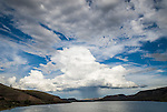Summer monsoonal thunderstorm over Blue Mesa Reservoir, Gunnison County, Colorado