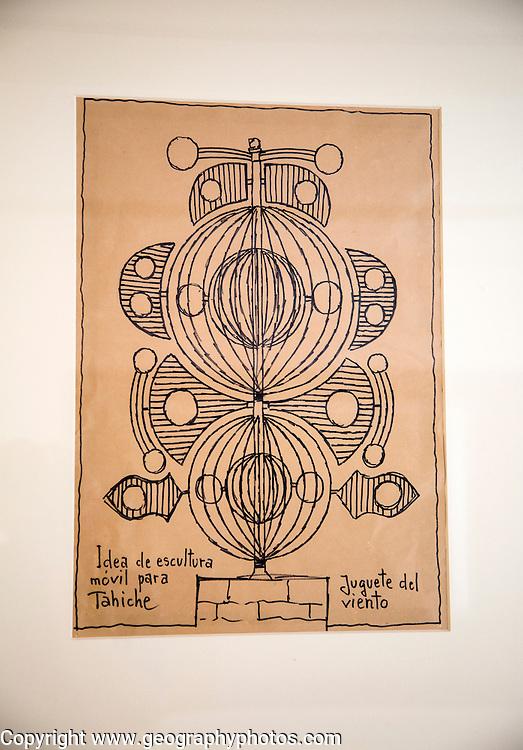 Sketch for artwork sculpture Fundación César Manrique, Taro de Tahíche, Lanzarote, Canary islands, Spain