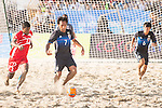 TABATA Teruki of Japan in action during the Beach Soccer Men's Team Gold Medal Match between Japan and Oman on Day Nine of the 5th Asian Beach Games 2016 at Bien Dong Park on 02 October 2016, in Danang, Vietnam. Photo by Marcio Machado / Power Sport Images