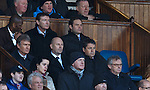 Administrators Paul Clark and David Whitehouse with Craig Whyte's empty seat in the directors box