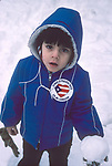 Young Puerto Rican boy who lives in North Babylon, NY. in the winter of 1979. Photo by Jim Peppler.