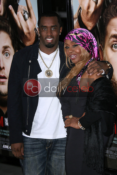 """Sean Combs, Janice Combs<br /> at the """"Get Him To The Greek"""" Los Angeles Premiere, Greek Theater, Los Angeles, CA. 05-25-10<br /> David Edwards/Dailyceleb.com 818-249-4998"""