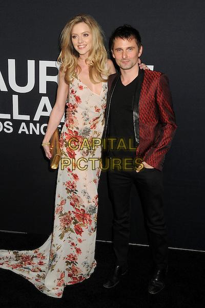 10 February 2016 - Los Angeles, California - Elle Evans, Matt Bellamy. Saint Laurent At The Palladium held at the Hollywood Palladium. <br /> CAP/ADM/BP<br /> &copy;BP/ADM/Capital Pictures