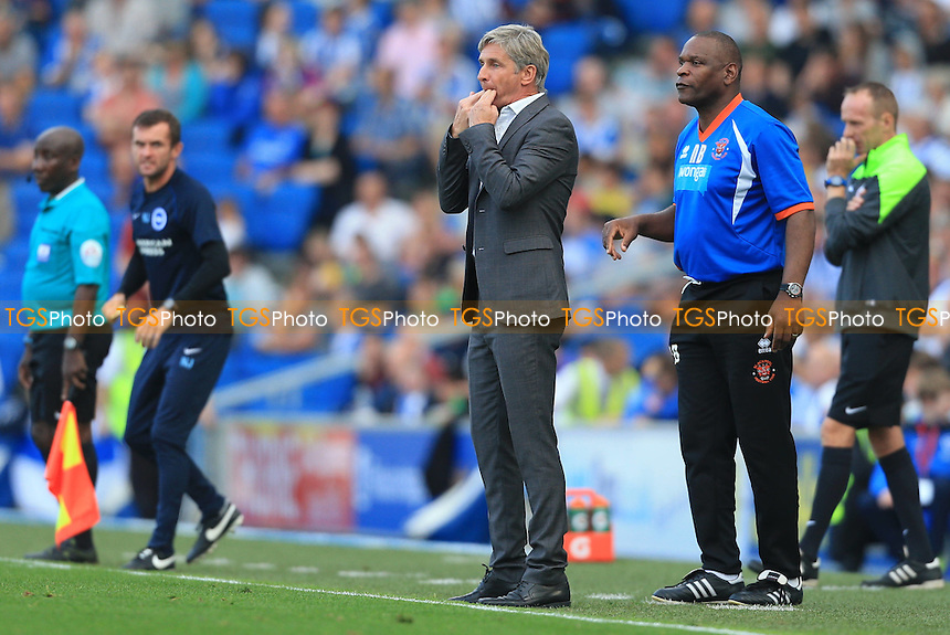 Blackpool Manager Jose Riga - Brighton & Hove Albion vs Blackpool - Sky Bet Championship Football at the American Express Community Stadium, Falmer, Brighton - 20/09/14 - MANDATORY CREDIT: Simon Roe/TGSPHOTO - Self billing applies where appropriate - contact@tgsphoto.co.uk - NO UNPAID USE