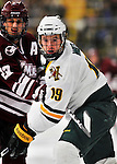 22 November 2011: University of Vermont Catamount forward Matt White, a Sophomore from McMurray, PA, in action against the University of Massachusetts Minutemen at Gutterson Fieldhouse in Burlington, Vermont. The Catamounts defeated the Minutemen 2-1 in their annual pre-Thanksgiving meeting of the Hockey East season. Mandatory Credit: Ed Wolfstein Photo