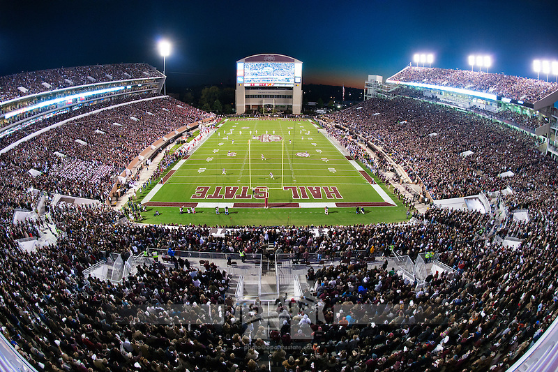 Davis Wade Stadium view from North End Zone vantage point (photo by Megan Bean / © Mississippi State University)