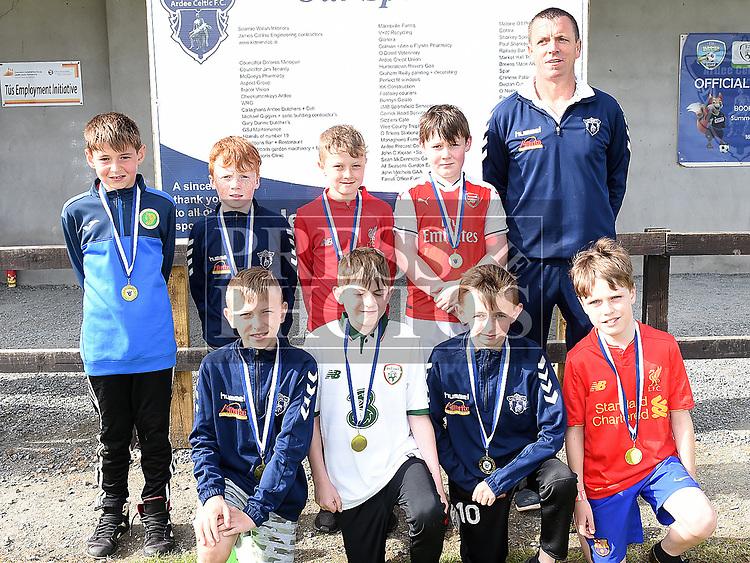 Ardee Celtic U-11 at the club's Annual award presentations. Photo:Colin Bell/pressphotos.ie