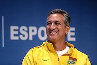 SAO PAULO, 01 DE SETEMBRO DE 2012. FORUM NACIONAL DE ESPORTES. O secretario geral de esportes do Comite Olimpico Brasileiro, Marcus Vinicius Freire, durante o Forum Nacional do Esporte organizado pelo Lide, grupo de lideres empresariais,  que aconteceu no WTC, na zona sul de Sao paulo,  na manhã deste sabado. FOTO ADRIANA SPACA - BRAZIL PHOTO PRESS.