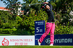Xiyu Lin of China in action during the Hyundai China Ladies Open 2014 at World Cup Course in Mission Hills Shenzhen on December 14<br />  2014, in Shenzhen, China. Photo by Xaume Olleros / Power Sport Images