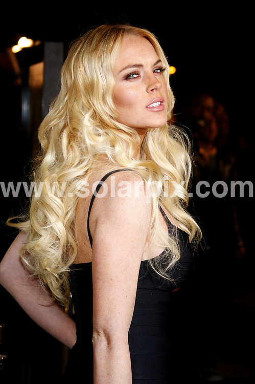 "**ALL ROUND PICTURES FROM SOLARPIX.COM**.**SYNDICATION RIGHTS FOR UK, SPAIN, PORTUGAL, AUSTRALIA, S.AFRICA & DUBAI (U.A.E) ONLY**.Lindsay Lohan attends the premiere of ""Cloverfield"", Paramount Pictures Lot, Los Angeles, CA, USA. 16th January 2008..JOB REF:     PHZ    DATE: .**MUST CREDIT SOLARPIX.COM OR DOUBLE FEE WILL BE CHARGED* *UNDER NO CIRCUMSTANCES IS THIS IMAGE TO BE REPRODUCED FOR ANY ONLINE EDITION WITHOUT PRIOR PERMISSION*"