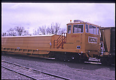 3/4 right-front view of Herzog ballast spreader MPM111 (MPM=Multi-Purpose Machine).  &quot;Track Train 'Head End'&quot;.<br /> Herzog  Monte Vista, CO  Taken by Berkstresser, George - 3/2003