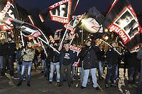 - Milano, manifestazione del gruppo di estrema destra Forza Nuova<br /> <br /> - Milan, demonstration of far-right group Forza Nuova