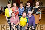 Ready to hit the floor dancing at the 60th Celebration Céilí for Comhaltas Ceoltóirí Éireann in the Duchas Comhaltas Centre, IT Tralee on Sunday.Kneeling l to r: Tony O'Connell (Kilcummin), John Dineen (Killarney) and Brendan Whelan (Rathmore).<br /> Back l to r: Patricia Whelan (Rathmore), Eileen O'Connor (Kilcummin), Joan O'Connor (Dublin), Joan Hill (Tralee) and Marie Burke (Tralee)