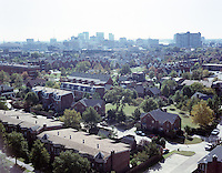 1991 August ..Redevelopment.E Ghent South (A-1-1)..Ghent Square Low/Oblique.From John Knox Towers looking Southeast toward Downtown...NEG#.NRHA#.08/91 (REDEV  :E.Ghent3:2  :3  :  FR5).