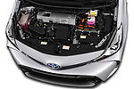 Car Stock 2018 Toyota Grand-Prius+ business-plus 5 Door Mini Mpv Engine  high angle detail view