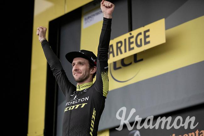 Adam Yates (GBR/Mitchelton-Scott) winning a 2nd stage win this Tour in Foix/Prat d'Albis <br /> <br /> Stage 15: Limoux to Foix(185km)<br /> 106th Tour de France 2019 (2.UWT)<br /> <br /> ©kramon