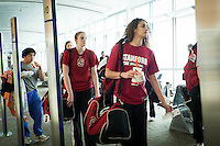 SAN JOSE, CA - MARCH 28, 2013 - Stanford Women's Basketball departures from San Jose International Airport.