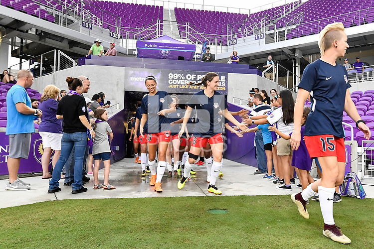 Orlando, FL - Saturday July 07, 2018: Washington Spirit prior to a regular season National Women's Soccer League (NWSL) match between the Orlando Pride and the Washington Spirit at Orlando City Stadium.