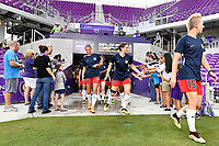 Orlando, FL - Saturday July 07, 2018: Washington Spirit prior to a regular season National Women's Soccer League (NWSL) match between the Orlando Pride and the Washington Spirit at Orlando City Stadium.