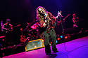 London, UK. 11.02.2016. JANIS JOPLIN: FULL TILT opens at Theatre Royal Stratford East, starring Angie Darcy as Janis Joplin, with Andy Barbour, James Grant, Jon Mackenzie and Harry Ward. Picture shows: Angie Darcy (Janis Joplin). Photograph © Jane Hobson.