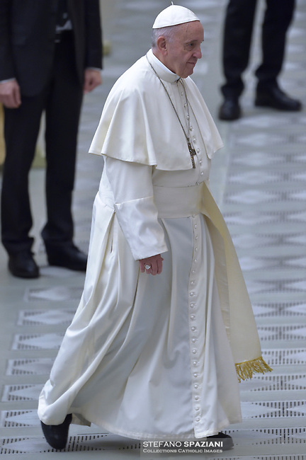 Pope Francis during of a weekly general audience at St Peter's square in Vatican, Wednesday,December. 5, 2018.