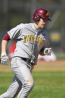 February 28, 2010:  Third Baseman Kyle Geason (4) of the Minnesota Golden Gophers during the Big East/Big 10 Challenge at Raymond Naimoli Complex in St. Petersburg, FL.  Photo By Mike Janes/Four Seam Images