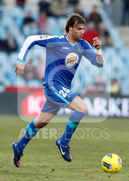 Getafe's Juan Valera during La Liga Match. January 08, 2012. (ALTERPHOTOS/Alvaro Hernandez)