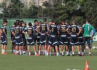 SÃO PAULO,SP, 12.11.2015 - FUTEBOL-PALMEIRAS - Jogadores do Palmeiras durante treino na Academia de Futebol na Barra Funda região oeste de São Paulo na tarde desta quinta-feira (12). (Foto: Marcio Ribeiro/Brazil Photo Press)