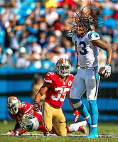 Photography of the Carolina Panthers vs. the San Francisco 49ers, Sunday afternoon September 18, 2016 at Bank of America Stadium in Charlotte, NC.<br /> <br /> Charlotte photographer - PatrickSchneiderPhoto.com