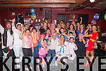 Karen Best,seated Rt,Ardfert,had a fab colourful fancy dress 30th birthday party last Saturday night in the Abbey tavern,Ardfert along with many friends and family