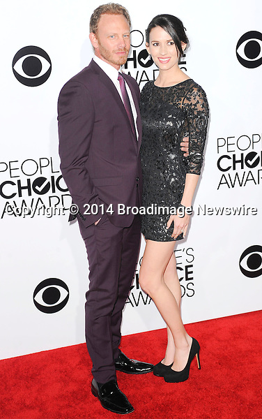 Pictured: Ian Ziering, Erin Kristine Ludwig<br /> Mandatory Credit &copy; Adhemar Sburlati/Broadimage<br /> People's Choice Awards 2014 - Arrivals<br /> <br /> 1/8/14, Los Angeles, California, United States of America<br /> <br /> Broadimage Newswire<br /> Los Angeles 1+  (310) 301-1027<br /> New York      1+  (646) 827-9134<br /> sales@broadimage.com<br /> http://www.broadimage.com