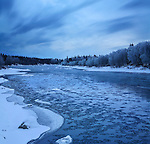 The Kenai River In November At Soldotna Alaska, Kenai Peninsula, USA