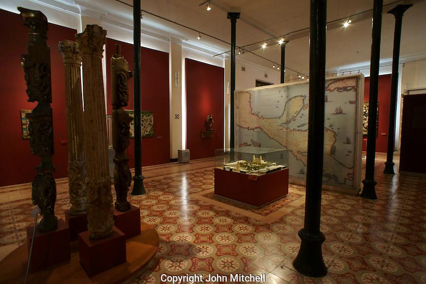 Exhibition gallery in the City museum or Museo de la Ciudad, Yucatan, Merida