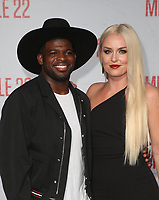 WESTWOOD, CA - AUGUST 9: PK Subban, Lindsey Vonn, at Premiere Of STX Films' &quot;Mile 22&quot; at The Regency Village Theatre in Westwood, California on August 9, 2018.<br /> CAP/MPIFS<br /> &copy;MPIFS/Capital Pictures