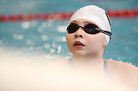 Picture by Richard Blaxall/SWpix.com - 15/04/2018 - Swimming - EFDS National Junior Para Swimming Champs - The Quays, Southampton, England - Erin Boyles of Workingham looks on for her time during the Women's MC 200m Freestyle