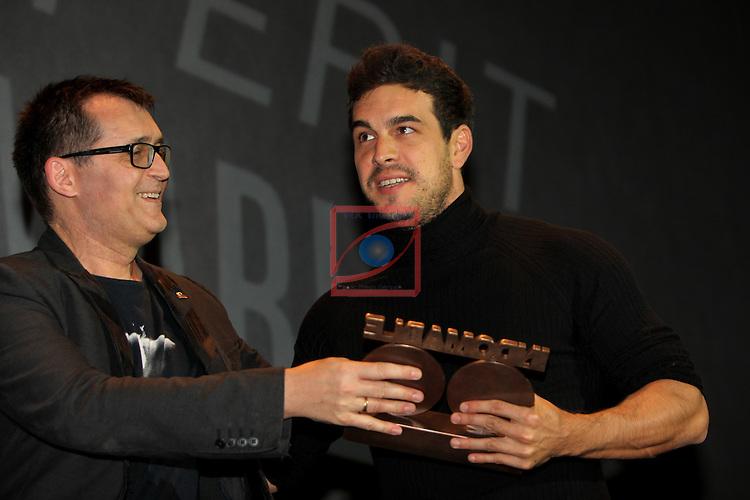 49 Festival Internacional de Cinema Fantastic de Catalunya-Sitges 2016.<br /> Premi Bacardi Sitges a l'Esperit Indomable.<br /> Mario Casas.