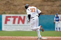 24 july 2010: Bryan Engelhardt of Netherlands runs the bases after a home run during Netherlands 10-0 victory over France, in day 2 of the 2010 European Championship Seniors, in Neuenburg, Germany.
