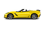 Car Driver side profile view of a 2017 Chevrolet Corvette Grand-Sport-3LT 2 Door Convertible Side View